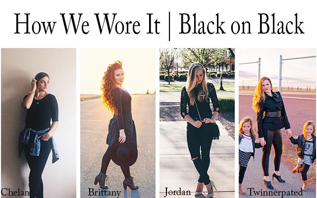 black on black bollage